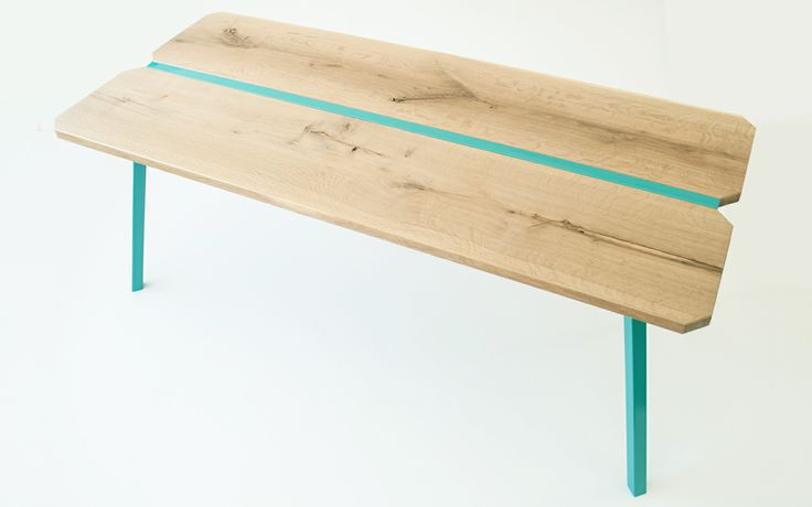 contemporary kitchen table with solid wood top