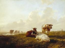 Thomas Sidney Cooper 'Landscape and Cattle', 1854