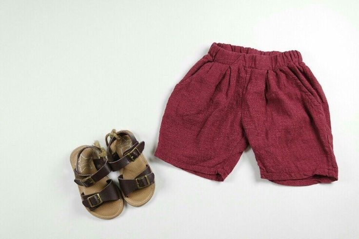Baby Kids Boys Girls Cool Burgundy Summer Casual Shorts Pants  #Unbranded