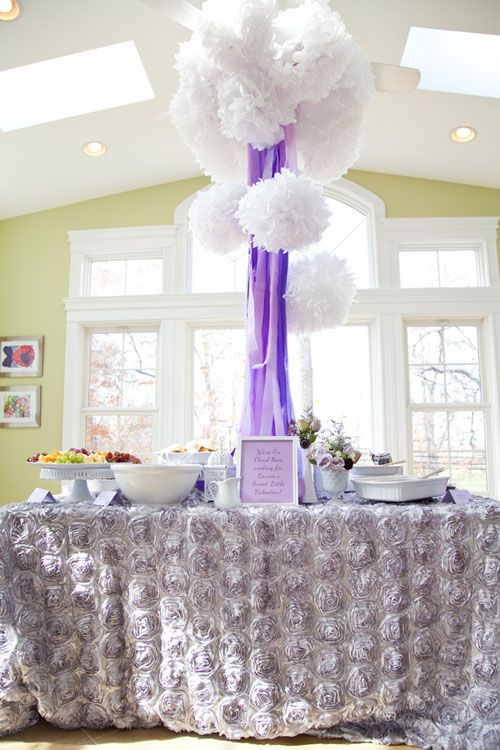 U201cOn Cloud 9 Lavender Theme.u201da Gorgeous Rosette Fabric In A Lavender Grey  Color. The Flowers Gave It A Three Dimensional Look And Added A Feeling Ofu2026