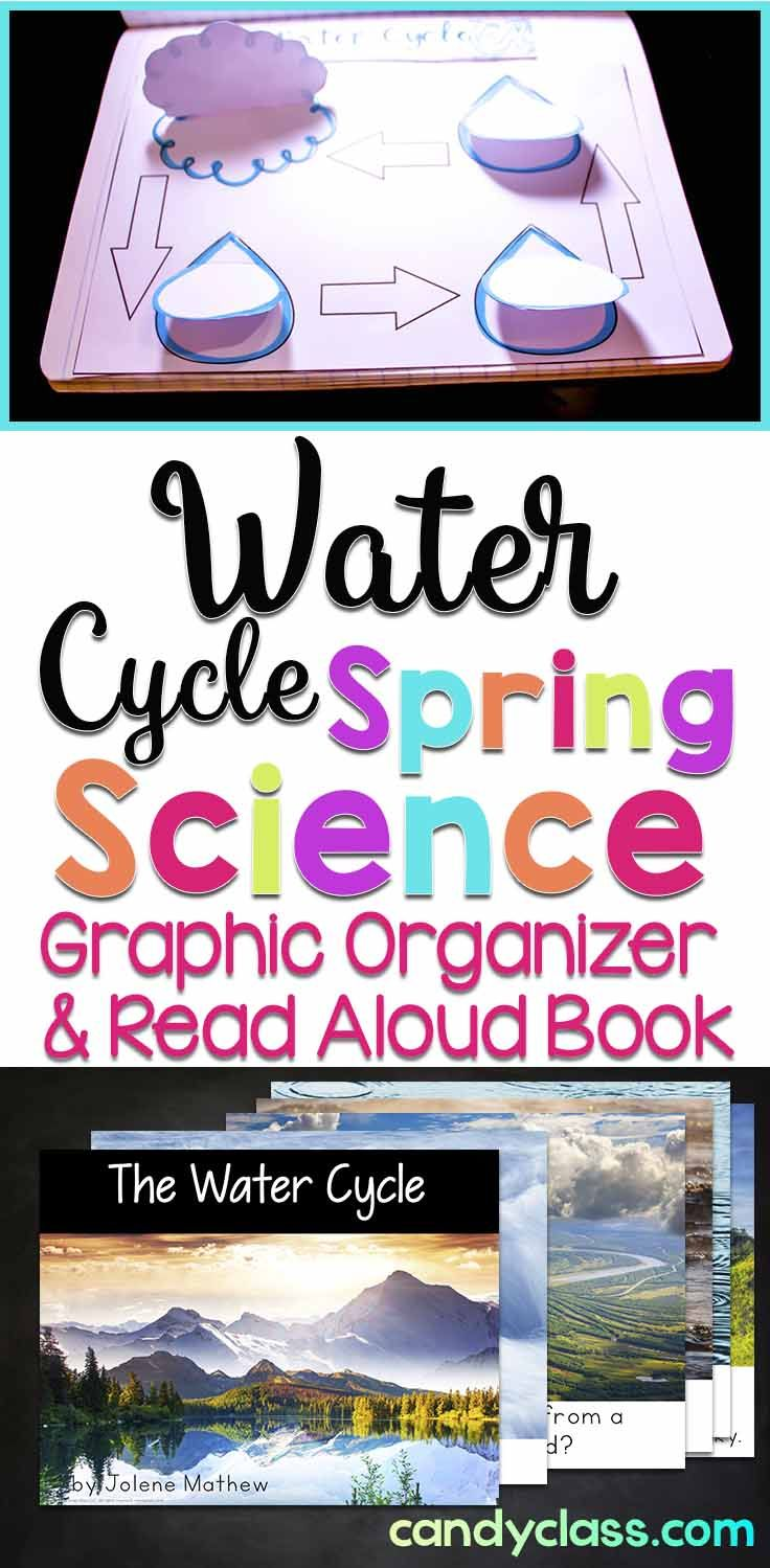 This water cycle graphic organizer and read aloud book duals for some spring science learning! Use the graphic organizer as a stand alone or in an interactive notebook. Project the non-fiction book on your Smartboard or print it. This reading response activity is ideal for kindergarten, first grade, and 2nd grade classrooms.