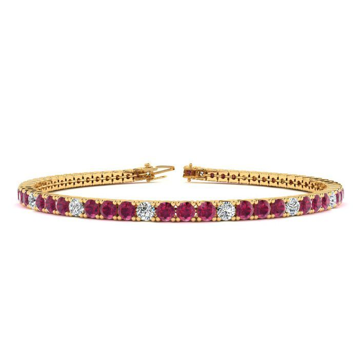 Online Shopping Soccerpartners Black Diamond Bracelet Ruby Bracelet Gold