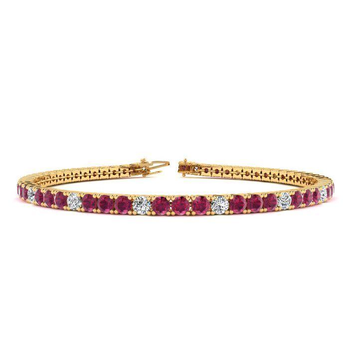 Online Shopping Soccerpartners Black Diamond Bracelet Ruby Bracelet Gold