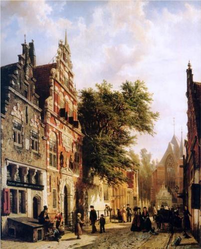 Weeshuis in Enkhuizen - Cornelis Springer