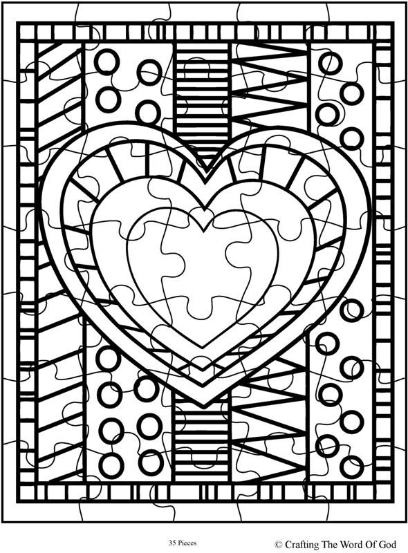 Heart Puzzle (Activity Sheet) Activity Sheets Are A Great Way To End A Sunday  School Lesson. They Can Serve As A Great Take Home Activity.