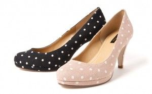Spotty shoes for wedding