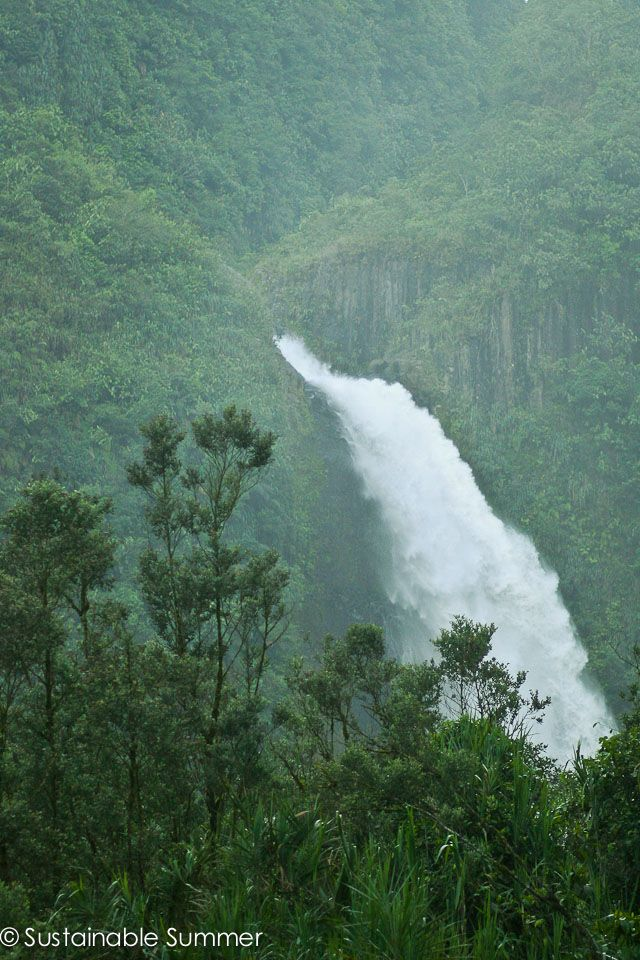 Falling water in Ecuador's Amazon.
