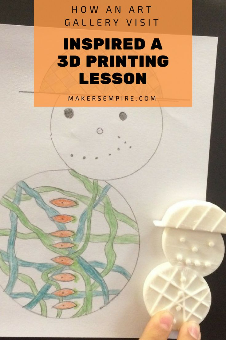 STEAM education for the win! Click to read how students used an art gallery visit to inspire a 3D printing lesson!