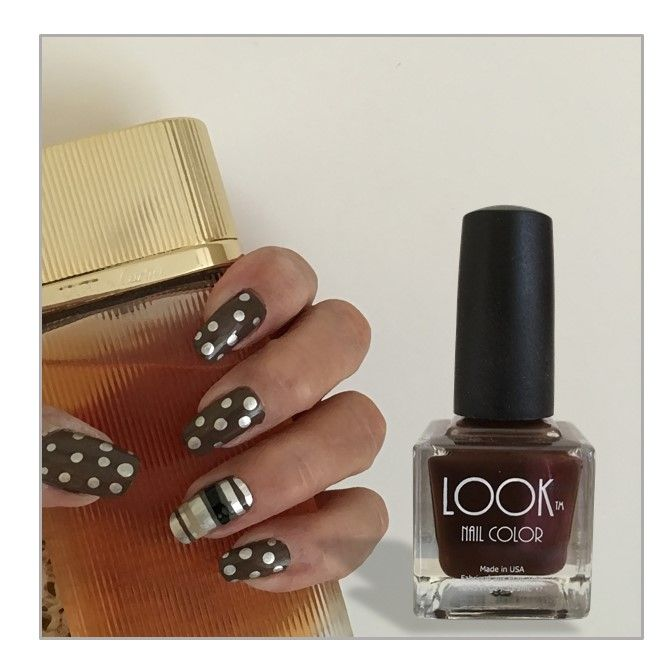 Dot and stripe nail art for the holiday