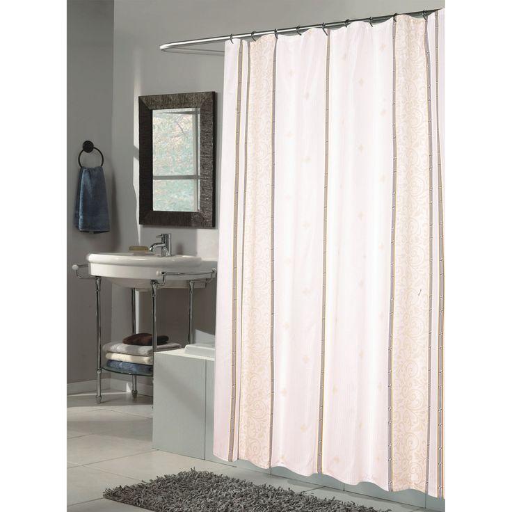 Carnation Home Fashions Ashley Fabric Shower Curtain - SC-FAB/84/AS