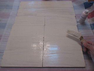 ③水で少し薄めた水性塗料を2度塗りする。