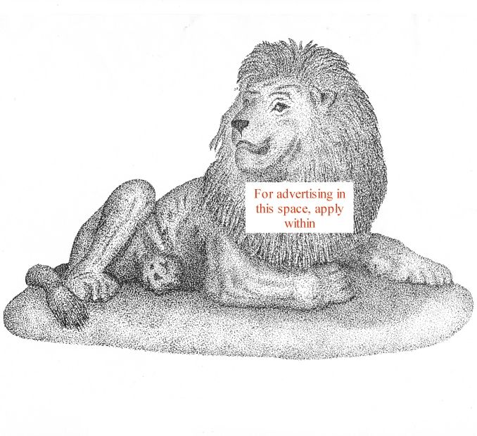 Sign on the dotted lion.