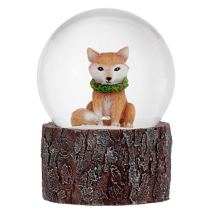 fox snow globe coloring pages - photo#16