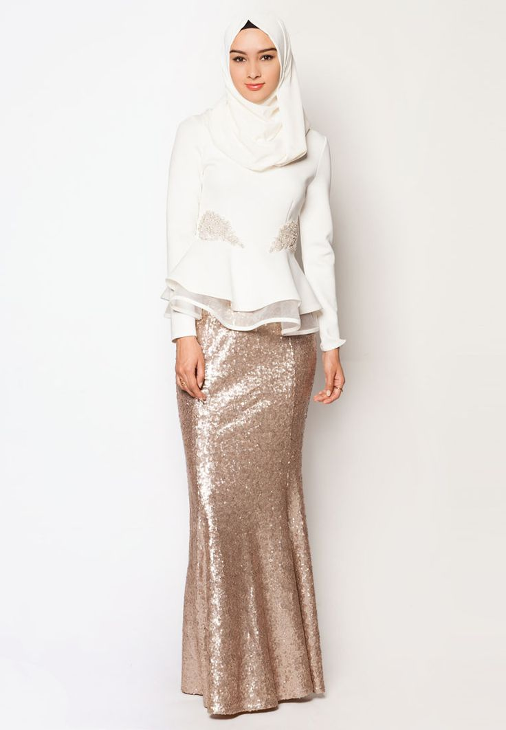 Buy Zalia Embellished Double Peplum Top Online | ZALORA Malaysia