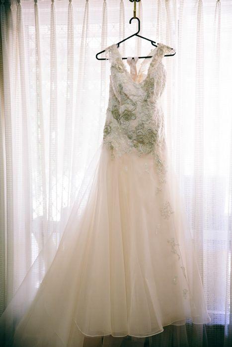 Softest blush wedding dress, Chein Noir Dezines WA