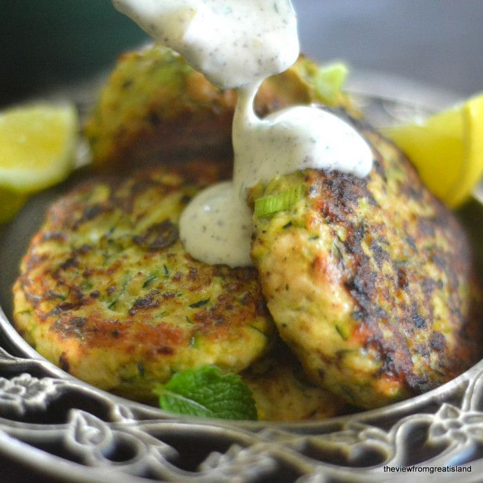 Turkey and Zucchini Burgers with Green Onion and Cumin - The View from Great Island