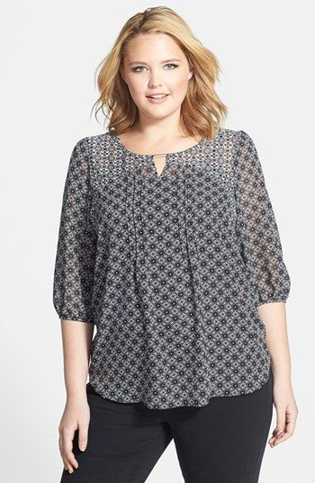 Evans Mixed Print Gypsy Top (Plus Size) available at #Nordstrom
