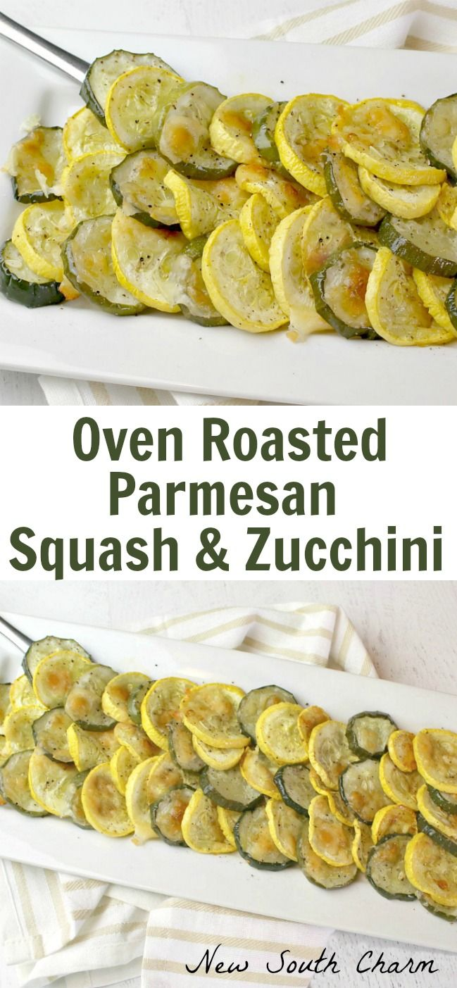 Oven Roasted Parmesan Squash and Zucchini is the perfect low carb side dish. Fresh squash and zucchini are perfectly complimented by parmesan cheese and just a touch of garlic. #lowcarb #keto #sidedish