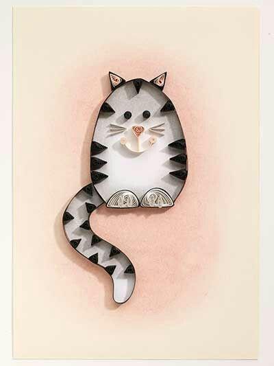 Simple quilled cat