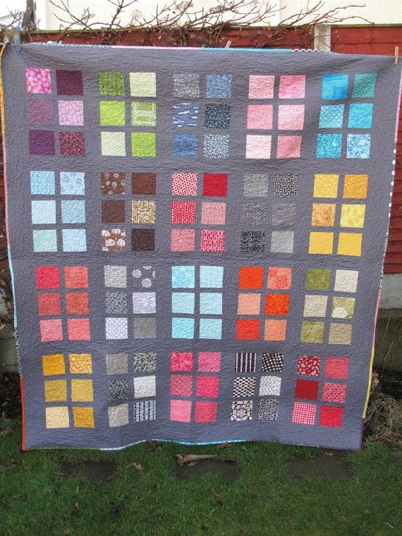 Rainbow Windows Lap Quilt/Throw by bluesquarequilting on Etsy, $280.00