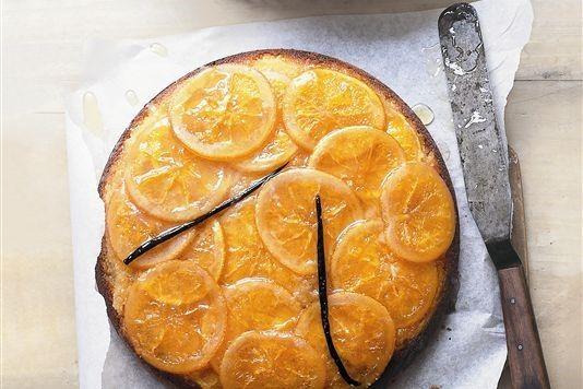 Donna Hay's sticky orange and vanilla upside-down cake recipe