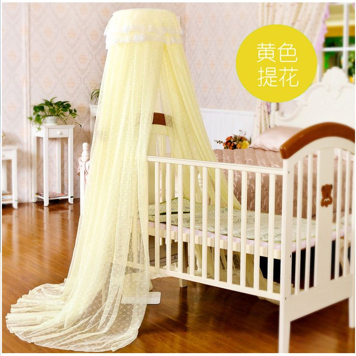 2016 super luxury high dome Palace door landing nets Crib Infant bed nets