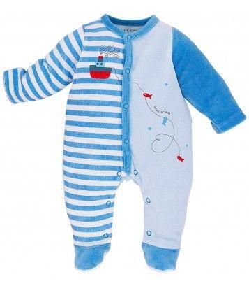 PYJAMA BEBE BLEU - Pyjamas, dors-bien, grenouilleres - VETEMENTS : Bébé – Sucre d'Orge