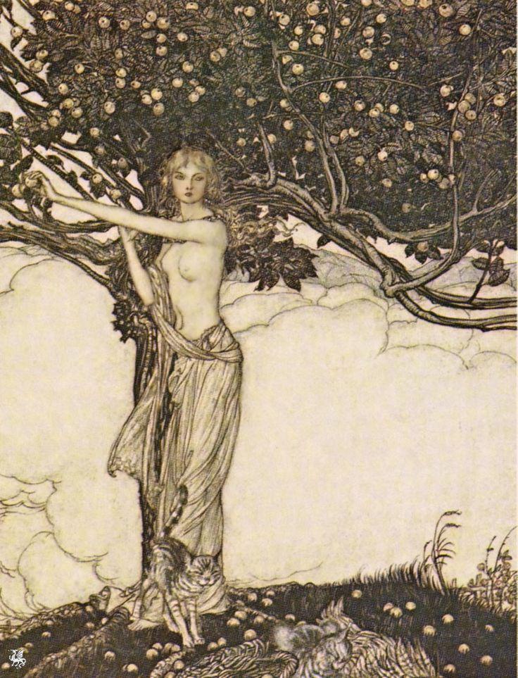 Arthur Rackham | Freya Goddess of Youth | 1910