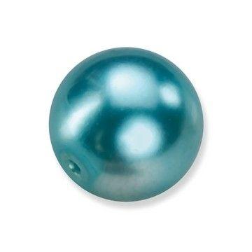 25 x ronde glasparels in een doosje 8mm turkoois - 2219 755