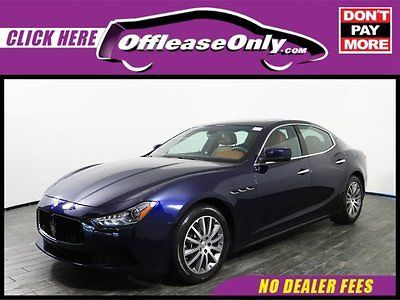 2014 Maserati Ghibli S Q4 AWD Off Lease Only Blue Emozione Mica 2014 MaseratiGhibliS Q4 AWD with 7804 Miles