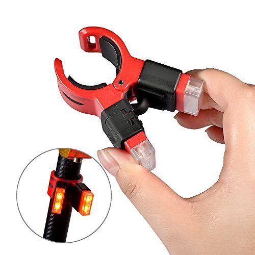 Mudder MT-CT09 Luz de Seguridad Trasera Bicicleta, USB Recargable Clip LED brillante Luz
