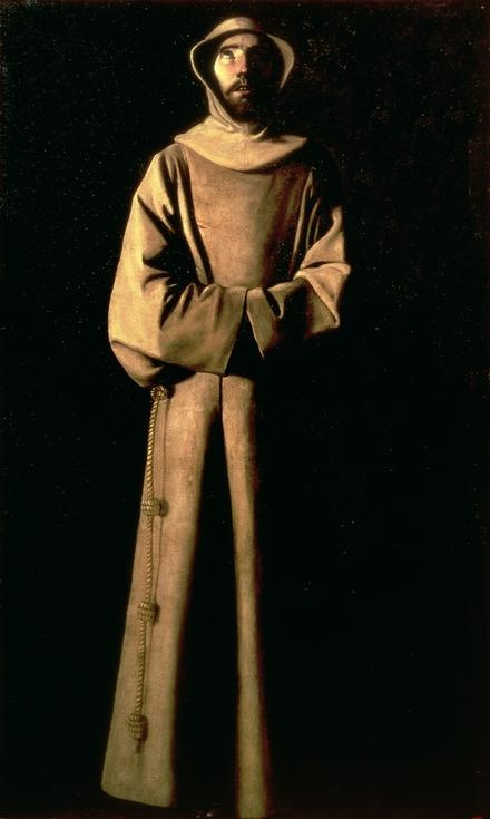 """Saint Francis of Assisi -- Francisco de Zurbaran"