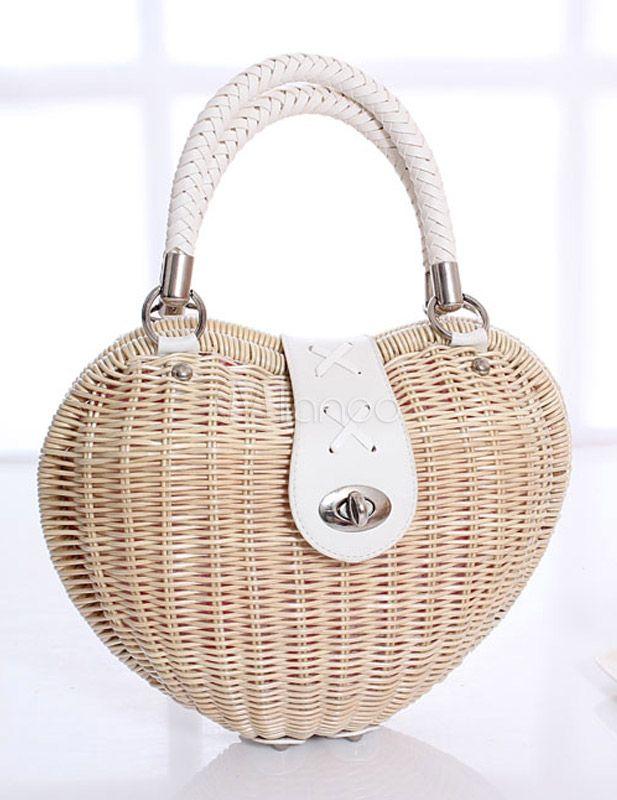 Unique Wicker and Rattan Chic Tote Bag for Women - Milanoo.com