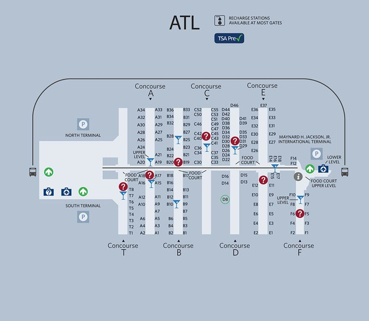 Atlanta Airport Map - If you transfer flights in Atlanta ...