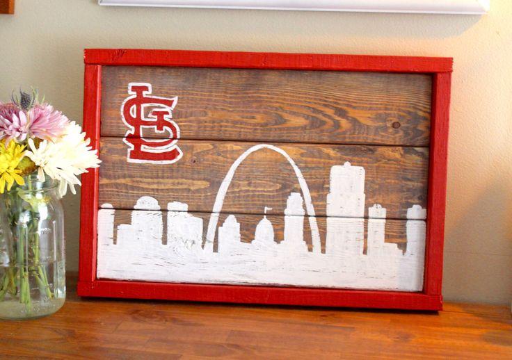 St Louis Cardinals Skyline by LibertysClosetShop on Etsy https://www.etsy.com/listing/450137842/st-louis-cardinals-skyline
