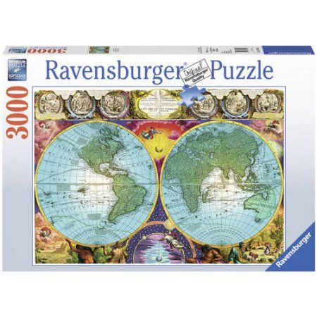Antique Map Puzzle, 3000 Pieces