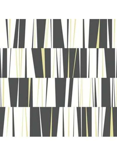 #retro #midcentury #wallpaper black and yellow Tapet Nyans Luta Svart/Vit Champange 29601
