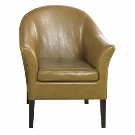 Camel Bonded Leather Club Chair  Camel Leather Club Chair Espresso Finish LegsLap of luxury. This smart looking camel leather club chair is great for home or office. Comfortable padding and California Fire Retardant rated.