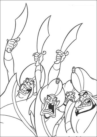 Royal Guards Coloring Page From Aladdin Category Select 25694 Printable Crafts Of Cartoons