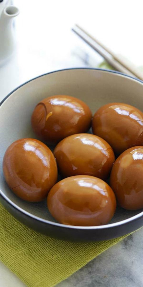 Soy Sauce Eggs - easy and healthy hard-boiled eggs steeped in a soy sauce mixture. This soy sauce eggs recipe yields delicious results | rasamalaysia.com