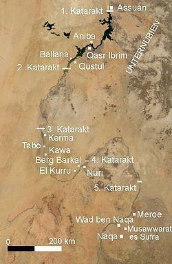 Mapa satélite en el que se puede ver los principales yacimientos en territorio…