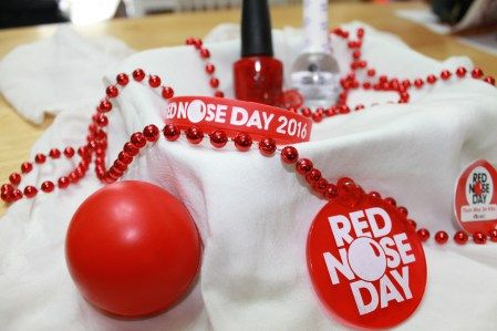 Red Nose Day. Best Color to paint your nails. #RND #Walgreens #red #nails #rednoseday