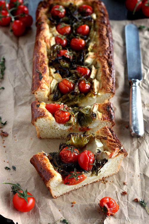 brioche tart con peperoni, caprino e timo...by lo scief scientifico / brioche tart with peppers, goat cheese and thyme