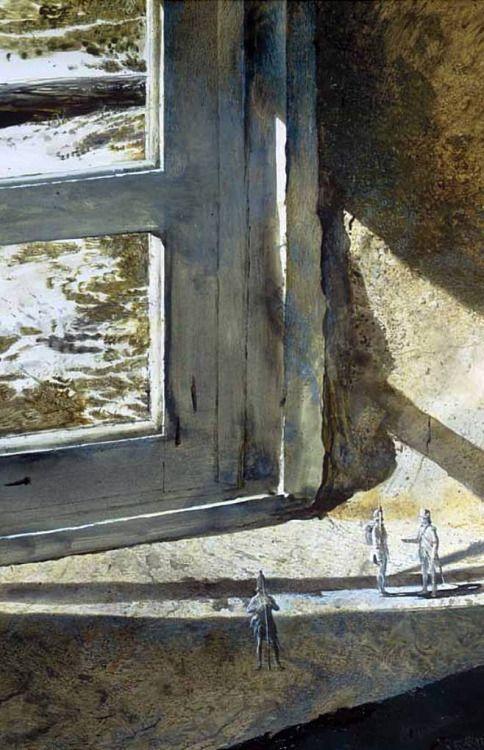 "urgetocreate: ""Andrew Wyeth, British At Brandywine, 1962, drybrush w/c """