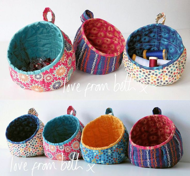 JUST IN:A follow-up to the hugely popular Storage Pods, these make great storage for your craft room, bedroom or bathroom. They are designed to just sit on a flat surface with no need to hang them up. The neat finger loop makes moving them round easy. They are simple to make using our pattern and each one can be made from just two fat quarters. They work great as a set of three or more and would make someone a lovely present. The pattern is fully illustrated with step by step photos of all…