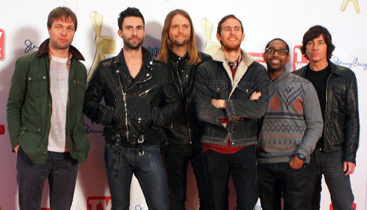 "Maroon 5 with Adam Levine  I love their songs ""Moves Like Jagger"", and ""Payphone"""