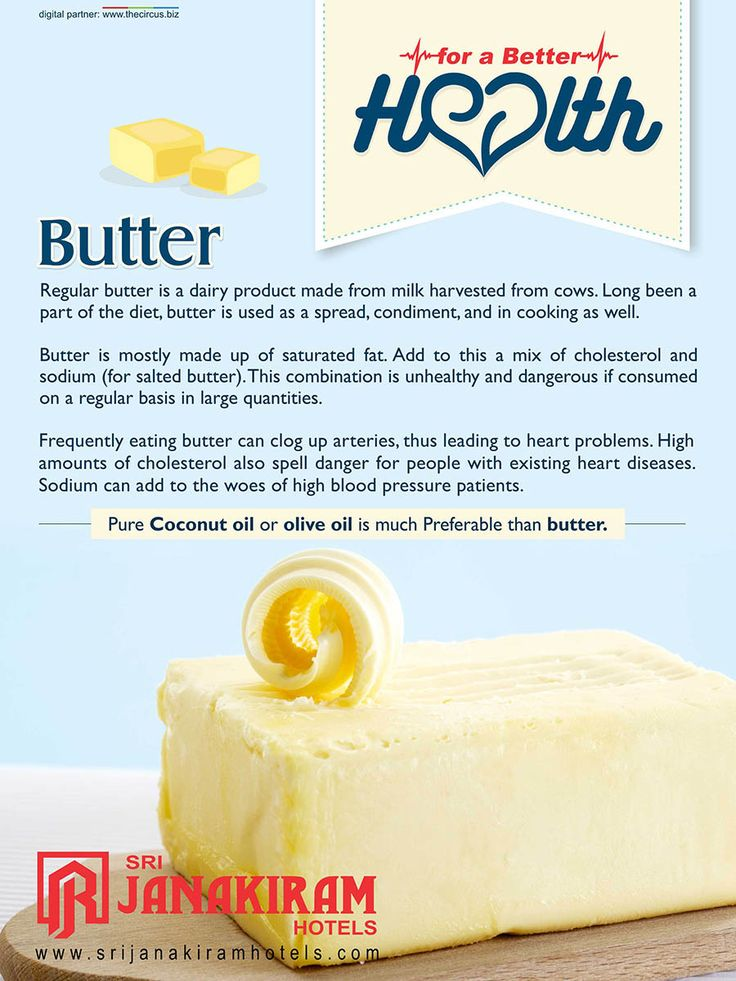 Butter is a kitchen essential, but it have some side effects too.  Lets know about the healthy alternative of butter.  #srijanakiram‬ #health‬ #butter #olive_oil #coconut_oil