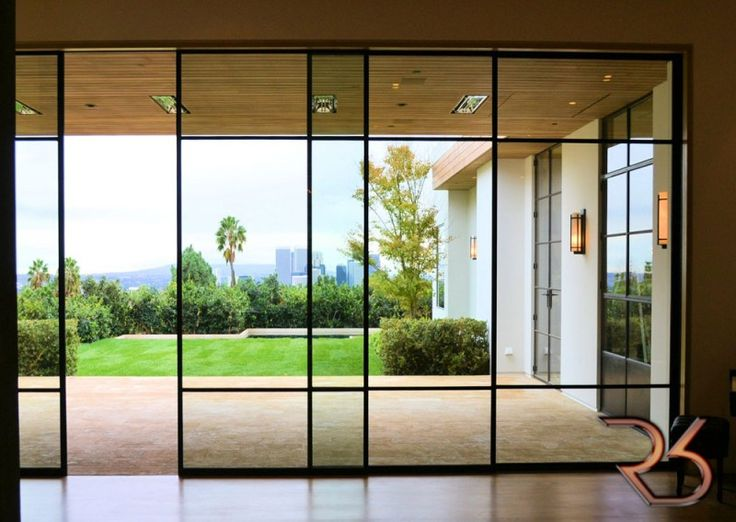 17 best ideas about automatic sliding doors on pinterest for Steel entry door with sliding window