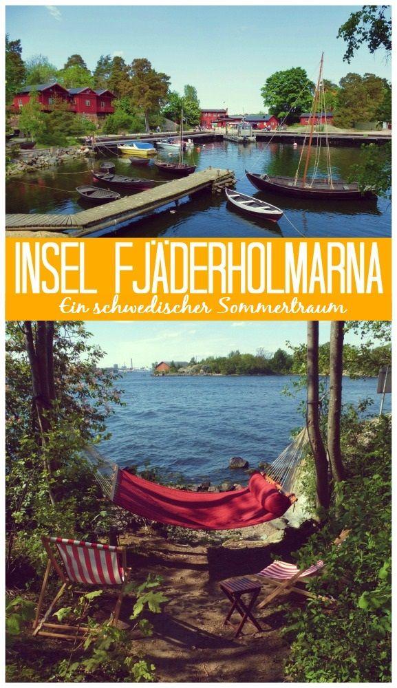 Auf Fjäderholmarna, einer idyllischen Insel in Stockholms Schärengarten findet man Schweden wie im Bilderbuch.