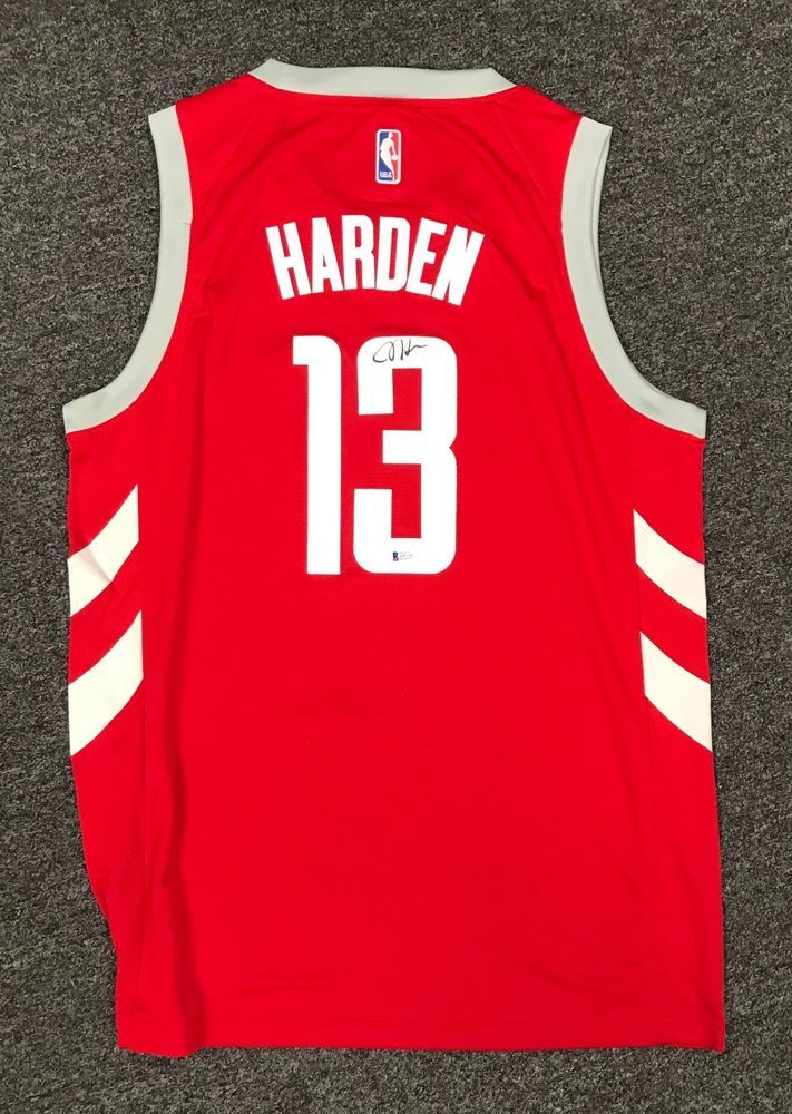 89deddb8041 James Harden  13 Signed Rockets Red Jersey Sz 52 BAS WITNESSED COA. Find  this Pin and more on Autographed Basketball ...